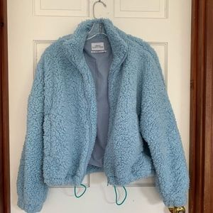 **RARE Urban Outfitters Sky Blue Teddy Jacket**